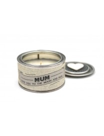'Mum, Love You To The Moon And Back Tin Candle
